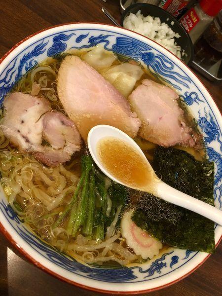 「ワンタン麺 ¥850」@白河手打中華 賀乃屋の写真