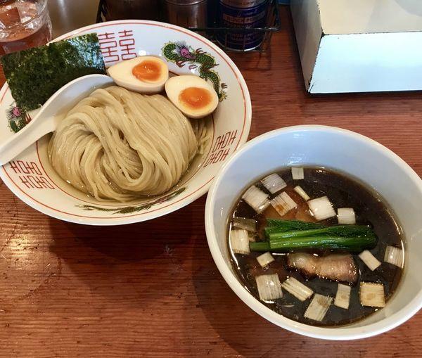 「濃厚昆布水の淡麗つけ麺+味玉」@麺処 ほん田の写真