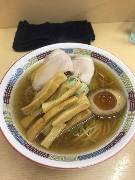 「煮干しらーめん薄口醤油+メンマ 780円+100円」@煮干鰮らーめん 圓の写真
