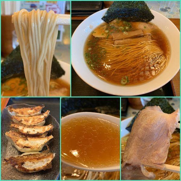 「平日限定ランチB 中華そば+ギョーザライス¥950」@麺や食堂の写真