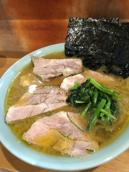 「チャーシュー麺中盛950円、硬め濃いめ」@尾道家系ラーメン とどろきやの写真