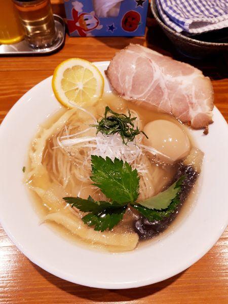 「冷やしラーメン830円+煮玉子100円」@麺屋 真心の写真