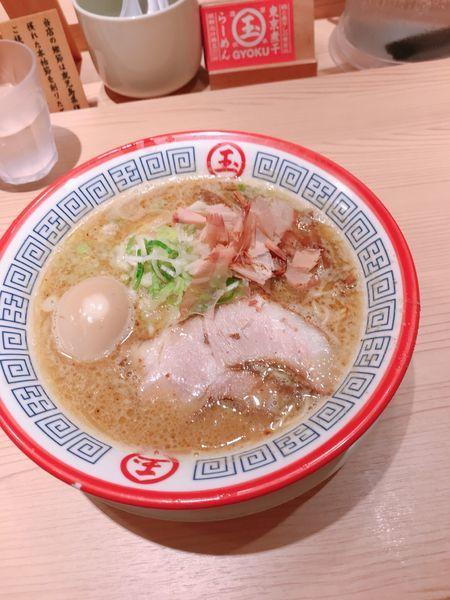 「味玉とろりそば」@東京煮干し らーめん 玉 東京駅店の写真
