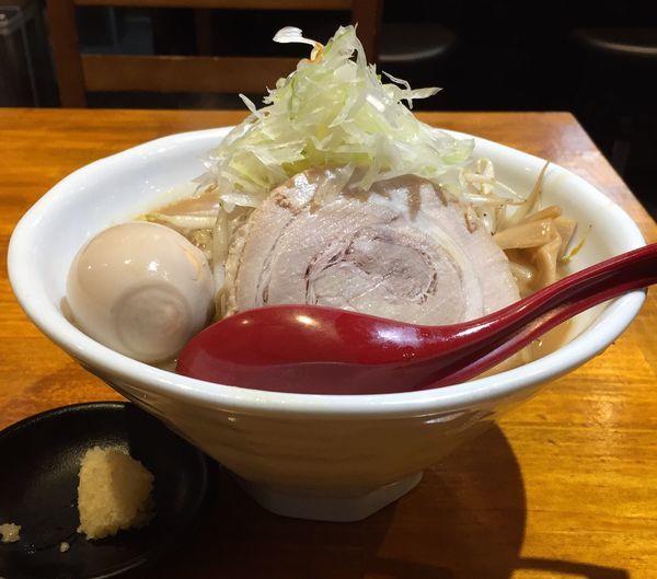 「濃厚味噌らーめん+味付け玉子」@らーめん 蓮の写真