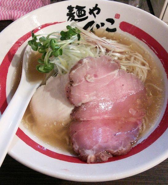 「【限定】和風冷やしらーめん 鯵煮干しと生姜のそば 1000円」@麺や でこの写真