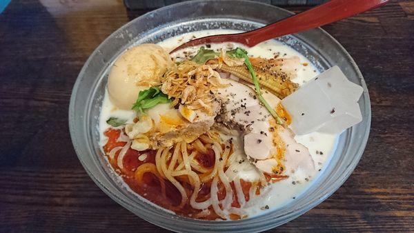 「【限定】海老とトウモロコシの冷やし」@麺場voyageの写真