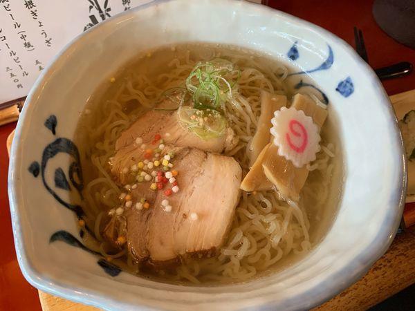 「竹燻製麺大盛+菜めし」@麺 玉響 刈谷店の写真