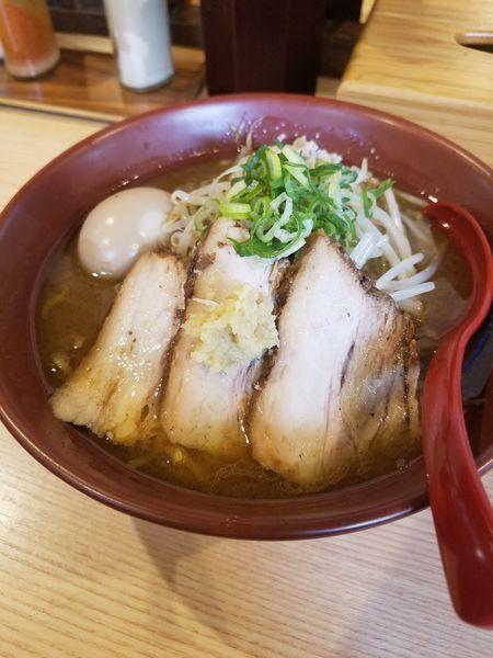 「3枚チャーシュー焼き味噌¥970+半熟味玉¥100」@拉麺 大公の写真
