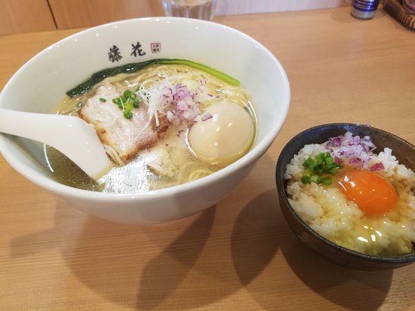 「特製塩らぁ麺¥980+極卵かけご飯¥220」@支那蕎麦屋 藤花の写真