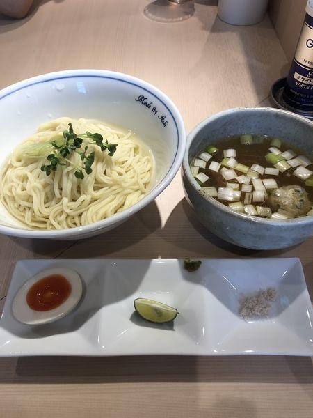 「つけ麺(白)¥900+つくね丼¥280」@中華蕎麦 あお木の写真