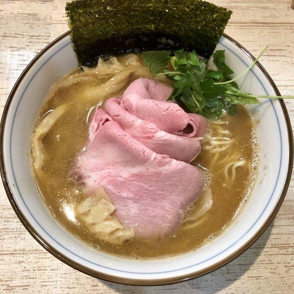 「【気まぐれ限定】地鶏と鰹の白湯 ¥900」@中華そば 四つ葉の写真