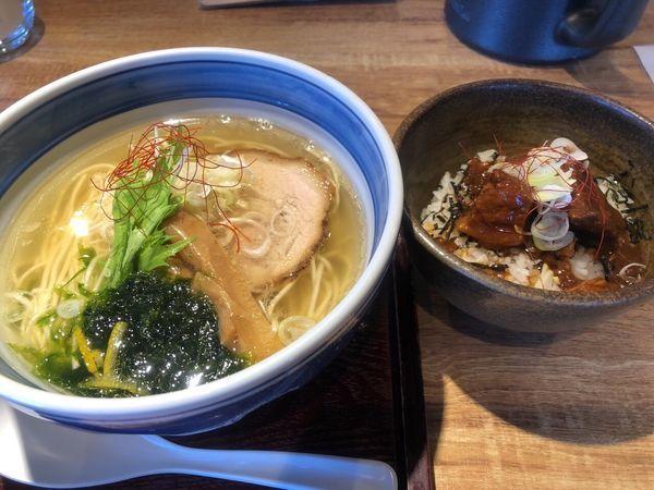 「塩ラーメン+味噌豚丼」@麺や Co粋の写真