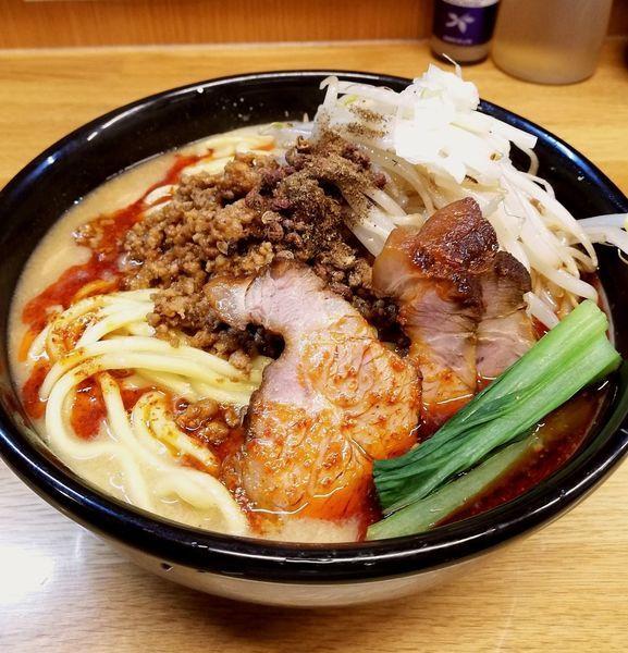 「チャーシュー担々麺、もやし増、痺れ」@味噌っ子 ふっくの写真