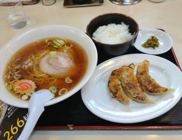 「餃子セット」@麺や 手ごね竹の写真