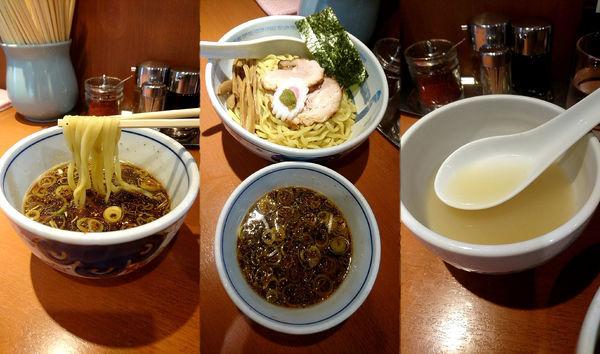 「『つけ麺+大盛(¥950+110)』」@たけちゃんにぼしらーめん 調布店の写真