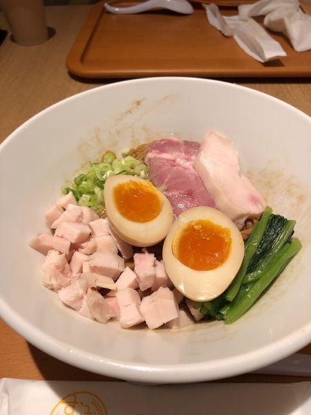 「【麺や 福はら】大和肉鶏の香味まぜそば900円」@むぎくらべの写真