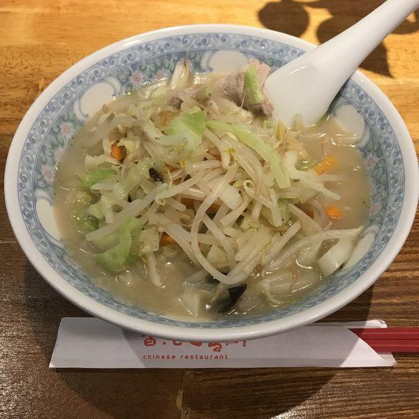 「野菜たっぷり湯麵(¥800)※」@鳴華餃子の写真
