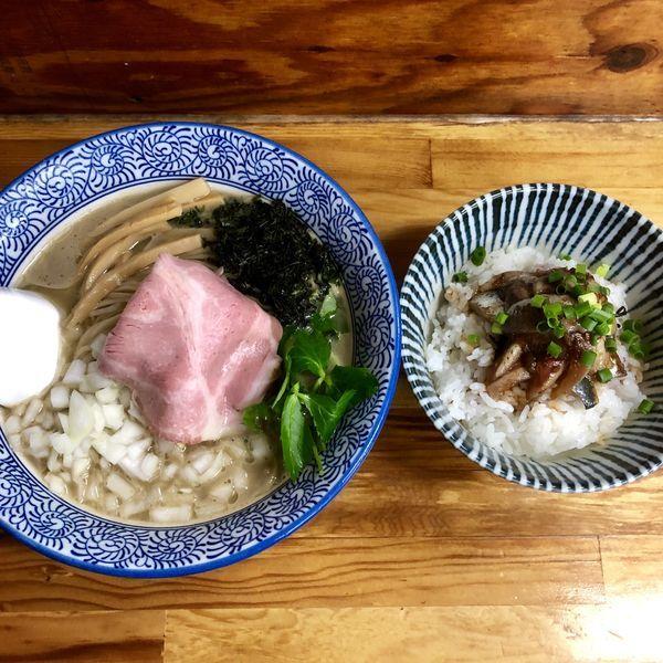 「【限定】濃い冷やし煮干しそば¥800」@中華そば よしかわの写真