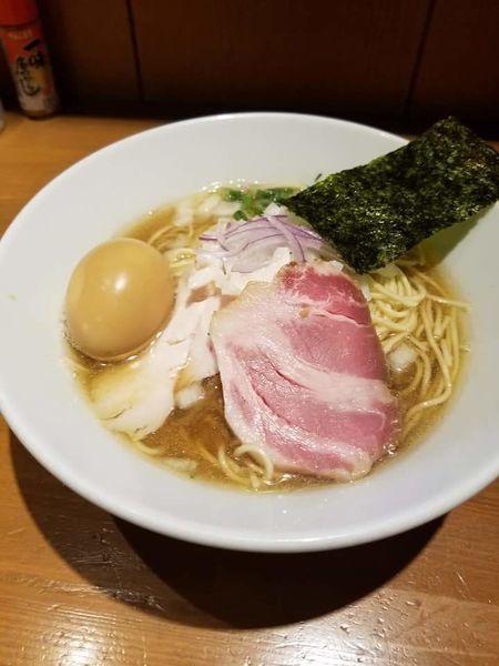 「味玉中華蕎麦¥900+和え玉¥200」@亀戸煮干中華蕎麦 つきひの写真