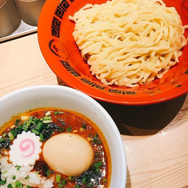 「赤辛つけ麺」@赤備の写真
