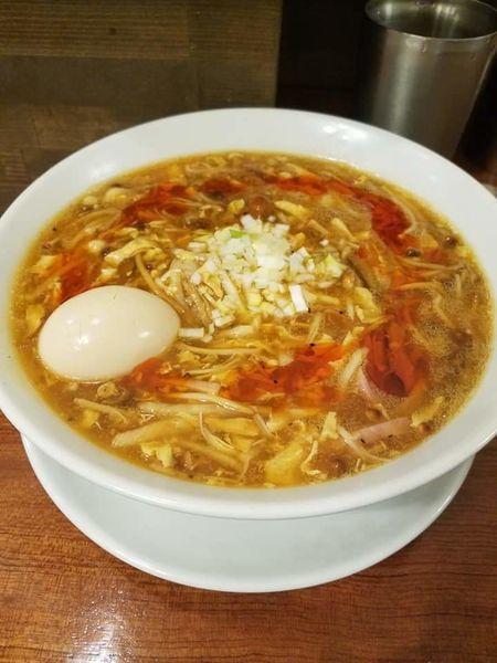 「酸辣湯麺¥1000+味玉¥120」@SHIBIRE NOODLES 蝋燭屋の写真