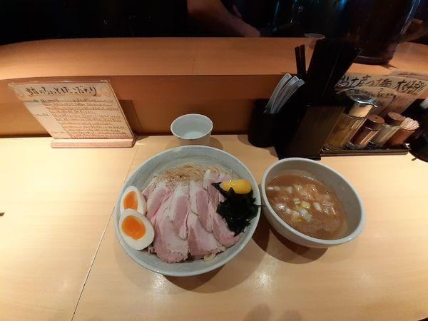 「特製濃厚塩つけ麺大盛+チャーシュー」@つけ麺 道の写真