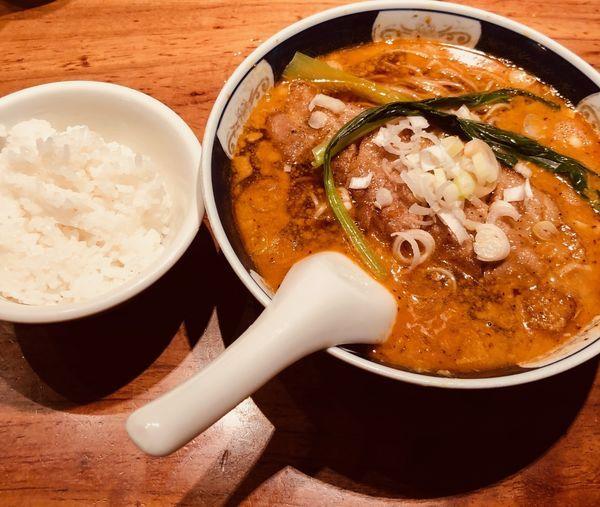 「ぱいこうだんだん(固・ネギ多¥1000)」@支那麺 はしご 銀座本店の写真
