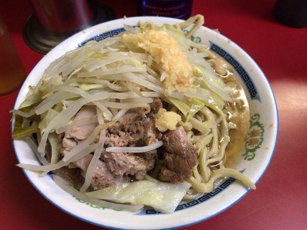 「小ラーメン豚入り(ニンニク) 600円」@ラーメン二郎 目黒店の写真