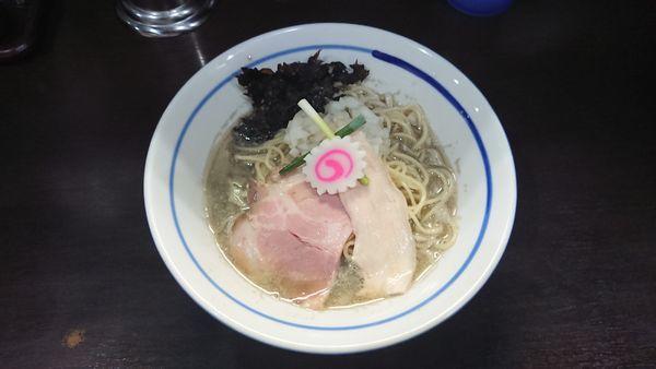 「煮干しそば 750円 + 和え玉 200円」@中華そば いづるの写真