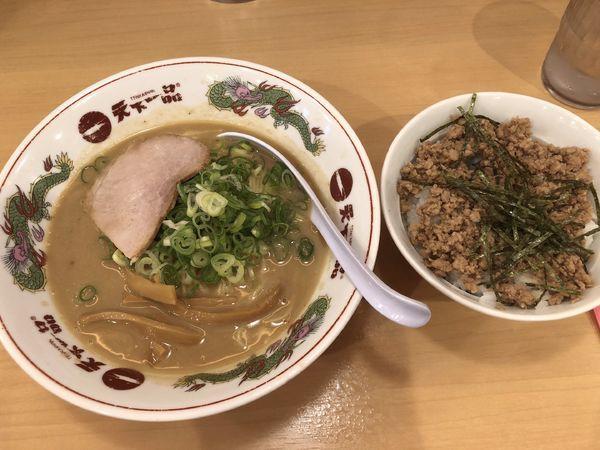 「Cセット(こってり+そぼろご飯)860円」@天下一品 恵比寿店の写真