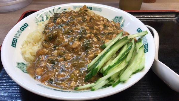 「ガパオ汁なし麺」@日高屋 北浦和店の写真