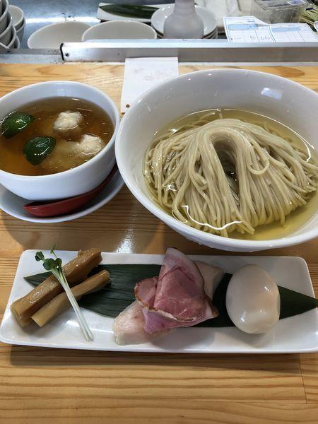 「濃厚清湯白醤油つけ麺¥1,000」@自家製麺 くろ松の写真