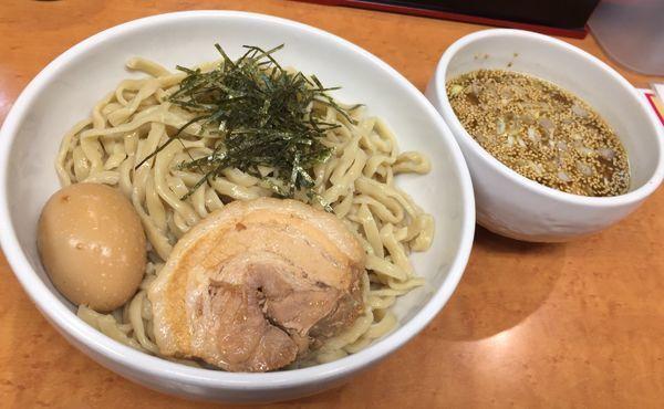 「つけ麺(塩・太麺・ニンニク)」@らーめんコジマルの写真
