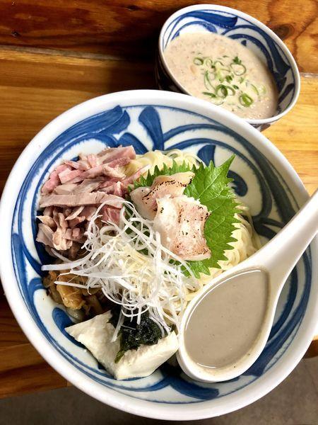 「【限定】豆乳と煮干の坦々つけ麺 赤魚の粕漬け添え¥990」@中華そば よしかわの写真
