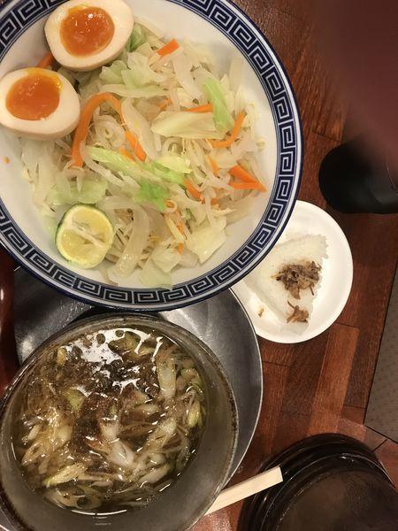 「野菜つけ麺 ストレート麺 煮卵 1,000円」@東京らあめんタワー 芝大門本店の写真