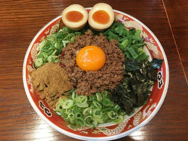 「台湾まぜそば(麺大盛り、追い飯)」@ラーメンかなやの写真