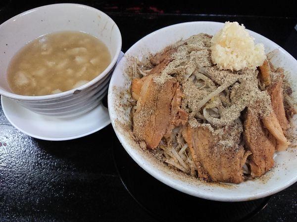 「つけ麺 中盛 豚ダブル 全増」@自家製太麺 ドカ盛 マッチョ 三ノ宮店の写真