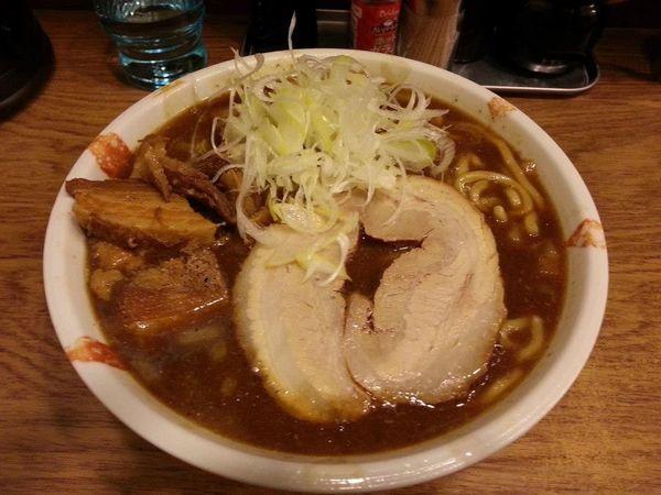 「濃厚煮干しそば 大盛 +へた肉」@麺処 慶の写真