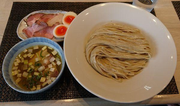 「【限定】特製鶏としじみの塩つけ麺(麺大盛)」@宍道湖しじみ中華蕎麦 琥珀の写真