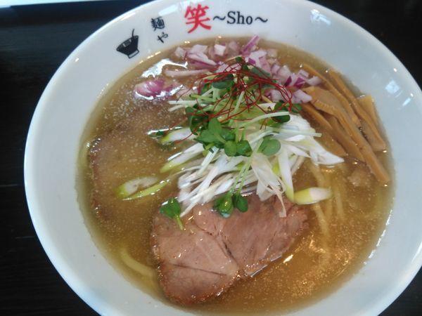 「(限定)みそ煮干しらーめん+ホルモンハチノス+カレーギョウザ」@麺や 笑 ~Sho~の写真