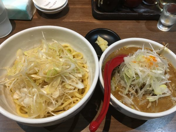 「濃厚みそつけ麺+ネギ」@らーめん 蓮の写真