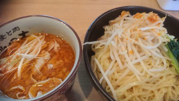 「旨辛柚子醤油(限定950円)+大辛(50円)+大盛無料」@小麦と肉 桃の木の写真
