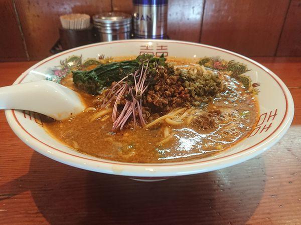 「担々麺+汁無し担々麺風和え玉」@麺処 ほん田の写真