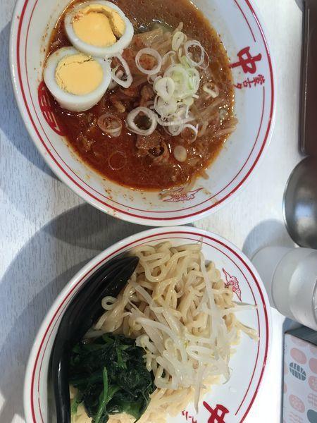 「辛さ度7 冷し五目味噌タンメン830円」@蒙古タンメン中本 品川店の写真