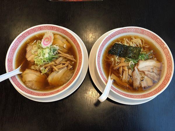 「【創業祭限定】中華そばクラシック+中華そば 食べ比べセット」@幸楽苑 川口上青木店の写真
