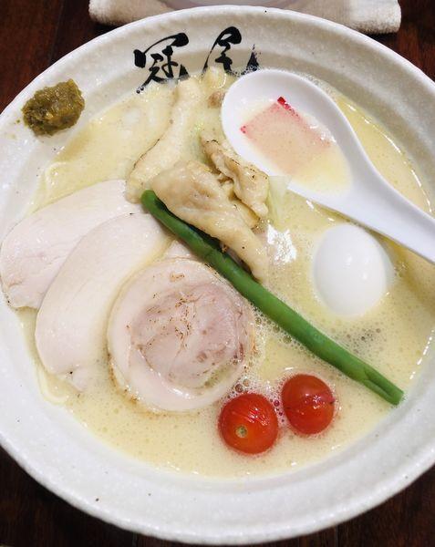 「特製鶏白湯らぁめん 1150円」@らぁめん冠尾 恵比寿西店の写真
