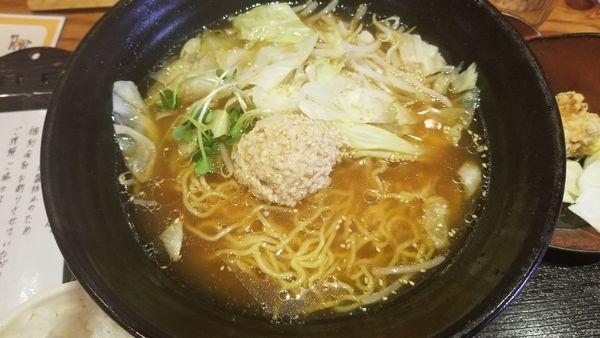 「鶏ラーメン」@松本からあげセンターの写真