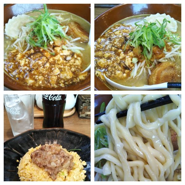 「G系ラーメン+牛スジチャーハン+コーラ」@麺家 Shumen Doushiの写真