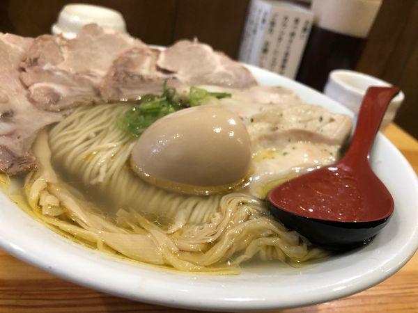 「特選塩そば」@自家製麺 竜葵の写真