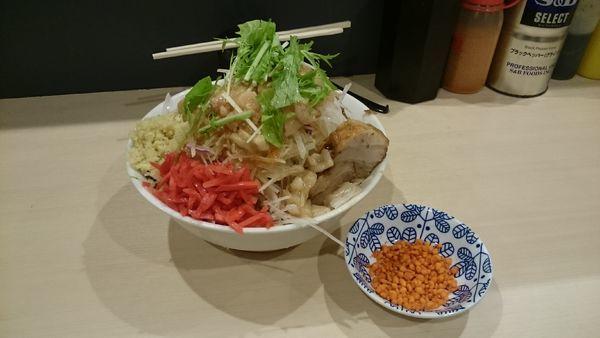 「冷やし中華・大・しょうが・紅しょうが・豚1枚・豚1枚」@鷹の目 蒲田店の写真